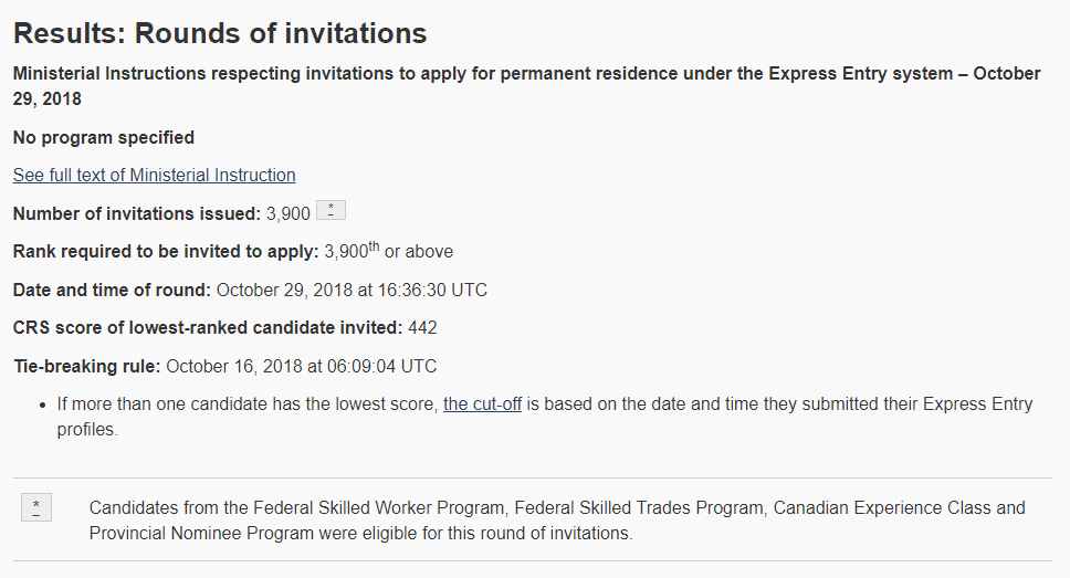 draw 103 express entry canada